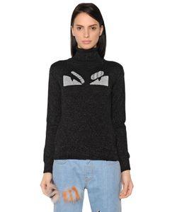 Fendi | Monster Lurex Wool Turtleneck Sweater