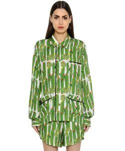 Sanchita | Cactus Printed Silk Twill Shirt