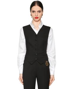 Dolce & Gabbana | Stretch Wool Natté Satin Vest