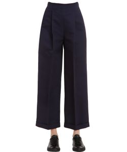 Salvatore Ferragamo | High Waist Viscose Pants