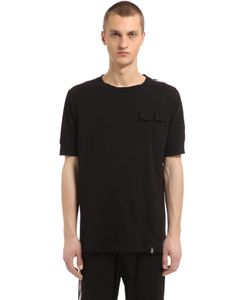 MRKT | Cotton Blend Jersey T-Shirt W 2 Pockets