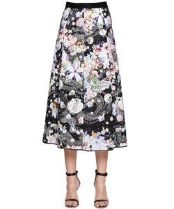Piccione.Piccione | Print Eyelet Lace Midi Skirt