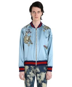 Gucci | Embroide Patch Silk Duchesse Bomber
