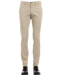 Lardini | 18cm Stretch Cotton Toile Pants