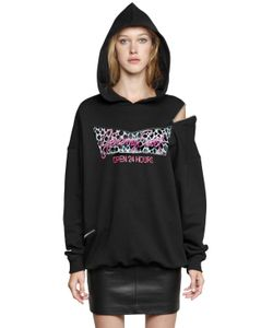 Jeremy Scott | Hooded Cotton Sweatshirt W/ Zip Detail