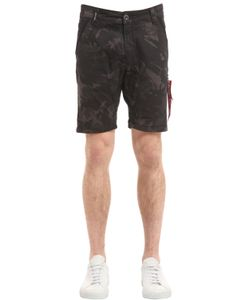 Alpha Industries | Camouflage Cotton Chino Shorts