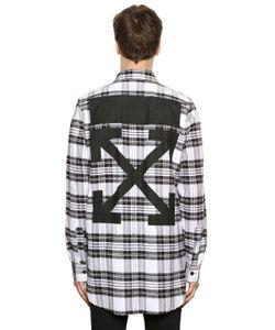 Off-White | Arrows Printed Plaid Flannel Shirt