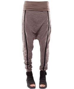Demobaza | Baggy Resin Cotton Jersey Pants
