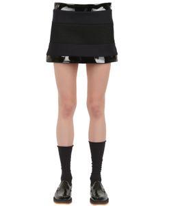 Wanda Nylon | Lisa Wool Vinyl And Mesh Mini Skirt