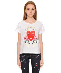 Vivetta | Heart Printed Cotton Jersey T-Shirt