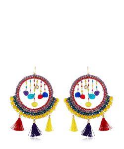 Rosantica | Merida Tassel Pompom Earrings
