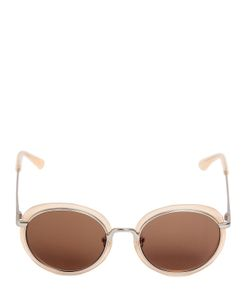 Linda Farrow | Acetate Metal Round Sunglasses