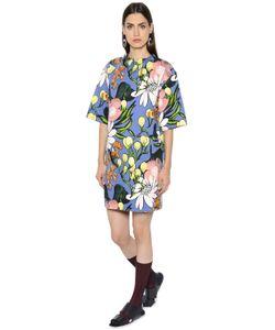 Marni   Floral Print Cotton Linen Drill Dress