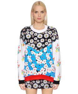 Au Jour Le Jour   Floral Patchwork Cotton Sweatshirt