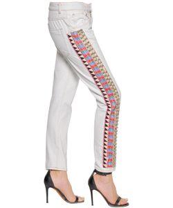 Amen | Slim Embellished Cotton Denim Jeans