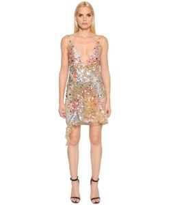 Amen | Sequined Tulle Dress With Printed Slip