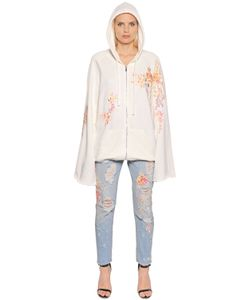 Amen | Embroidered Zip-Up Cotton Sweatshirt