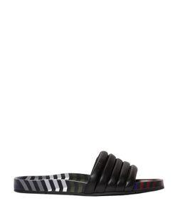 Fendi | Zig Zag Quilted Leather Slide Sandals