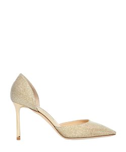Jimmy Choo | 85mm Esther Glitter Fabric Dorsay Pumps