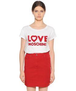 Love Moschino | Cotton Jersey T-Shirt