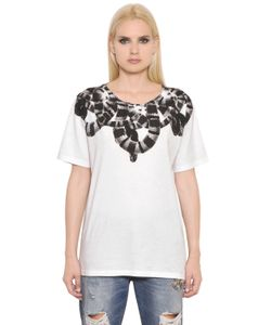 Marcelo Burlon County Of Milan   Snake Printed Jersey T-Shirt