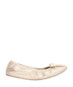 Salvatore Ferragamo | My Joy Metallic Leather Ballerina Flats