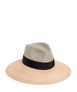 Federica Moretti | Large Brim Bicolor Woven Straw Hat