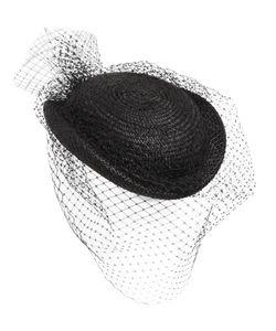 Federica Moretti | Straw Hat W/ Small Veil