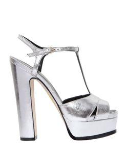 Sergio Rossi | 150mm Edwige Metallic Leather Sandals