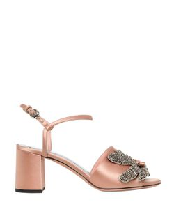Rochas | 60mm Jeweled Satin Sandals