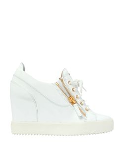 Giuseppe Zanotti Design | 90mm Patent Leather Wedge Sneakers