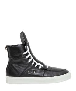 Kris Van Assche | Leather High Top Sneakers
