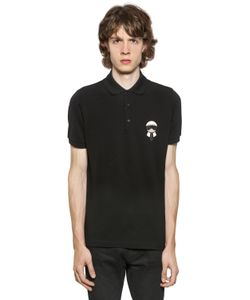Fendi | Karl Patched Cotton Piqué Polo Shirt