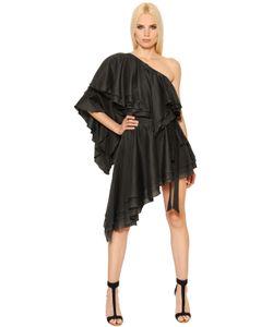 Alexandre Vauthier | Ruffled Asymmetrical Cotton Voile Dress