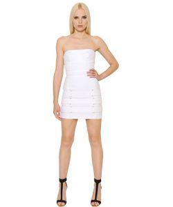 Alexandre Vauthier | Belts Embellished Denim Bustier Dress
