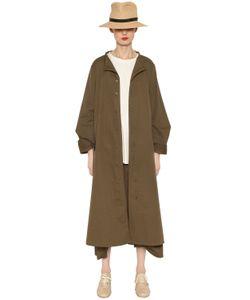 Y's | Polka Dots Cotton Twill Coat