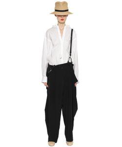 Y's | Crepe De Chine Pants W/ Suspenders