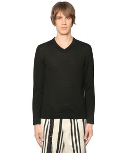 The Kooples | Leather Trimmed Wool Knit Sweater