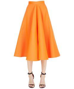 Maison Rabih Kayrouz | Flared Techno Silk Satin Midi Skirt