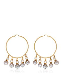 Carolina Bucci | Medium Hoops W/ Pearls