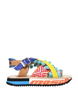 Moschino | 40mm Leather Cotton Sandals