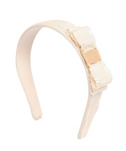 Salvatore Ferragamo | Cotton Grosgrain Headband W/Ruffle Bow