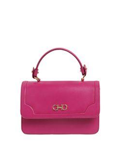 Salvatore Ferragamo | Seila Saffiano Leather Top Handle Bag