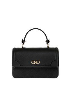 Salvatore Ferragamo | Seila Saffiano Leather Top Handle Bag
