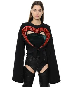 Y / Project | Heart Cutout Cotton Sweatshirt