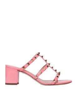 Valentino   60mm Rockstud Patent Leather Sandals