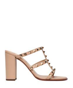Valentino   90mm Rockstud Leather Sandals