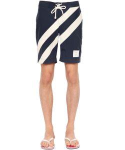 Thom Browne | Diagonal Stripes Nylon Swim Shorts
