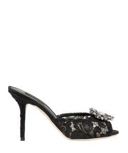 Dolce & Gabbana | 85mm Keira Swarovski Lace Mules