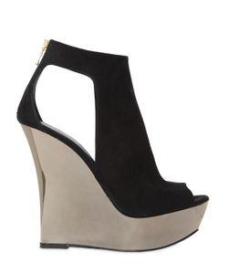Balmain   140mm Amaya Suede Wedge Sandals